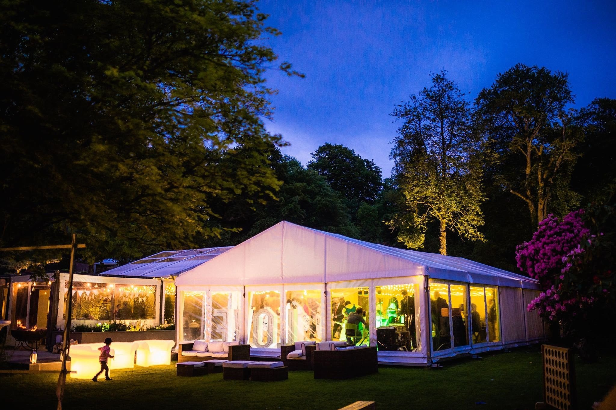 Why don't you just hire a marquee in the back garden…
