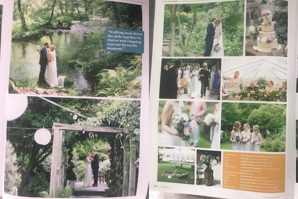 wed magazine real wedding feature catie dan