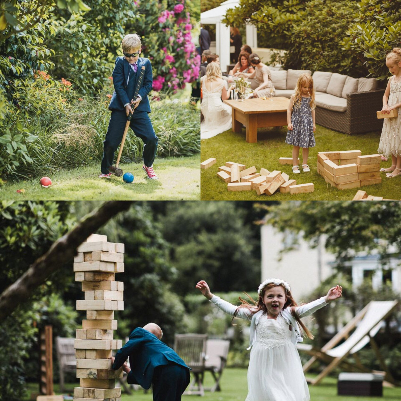 garden games, giant, jenga, garden, croquet, children, kids, wedding, ever after, 2019, entertainment, play, fun, occupied, party,