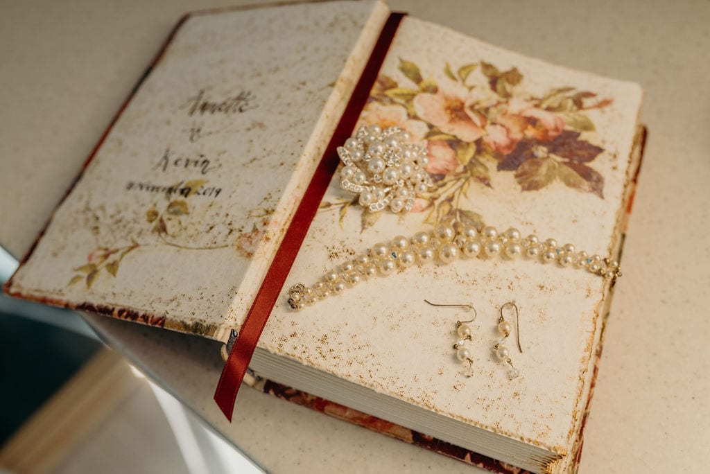 wedding book & jewelry