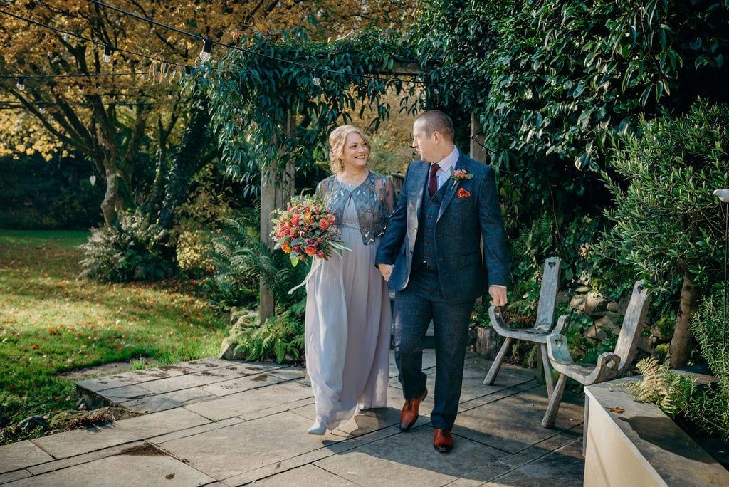 bride & groom aisle walk