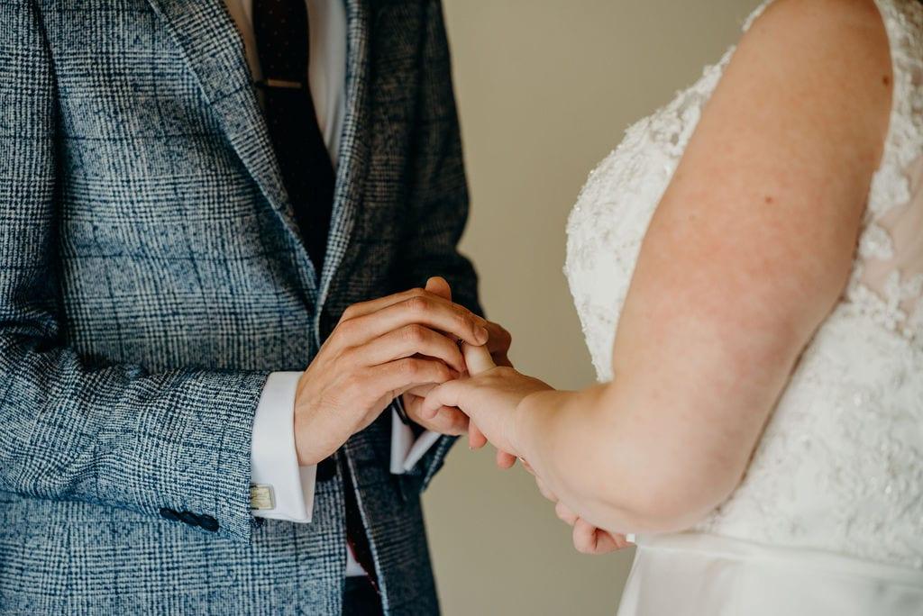 bride & groom ring exchange
