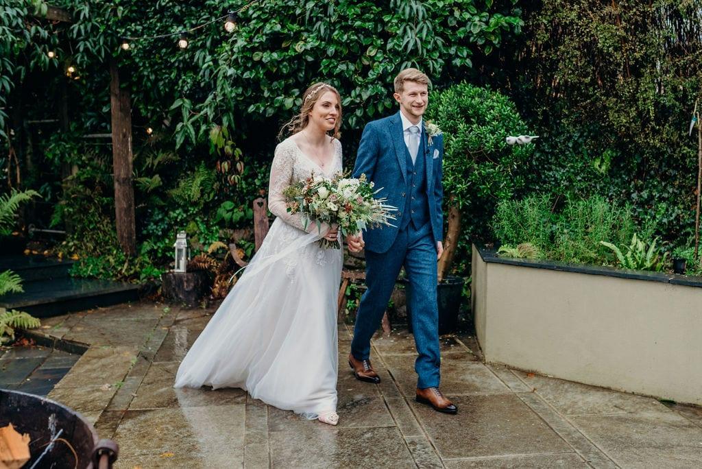 bride &groom aisle walk