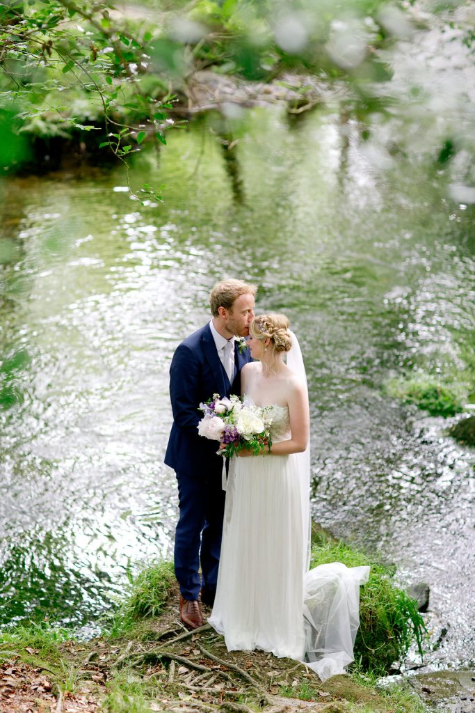 bride groom dartmoor woodland wedding