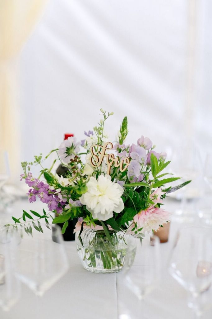 centrepiece flowers at Ever After