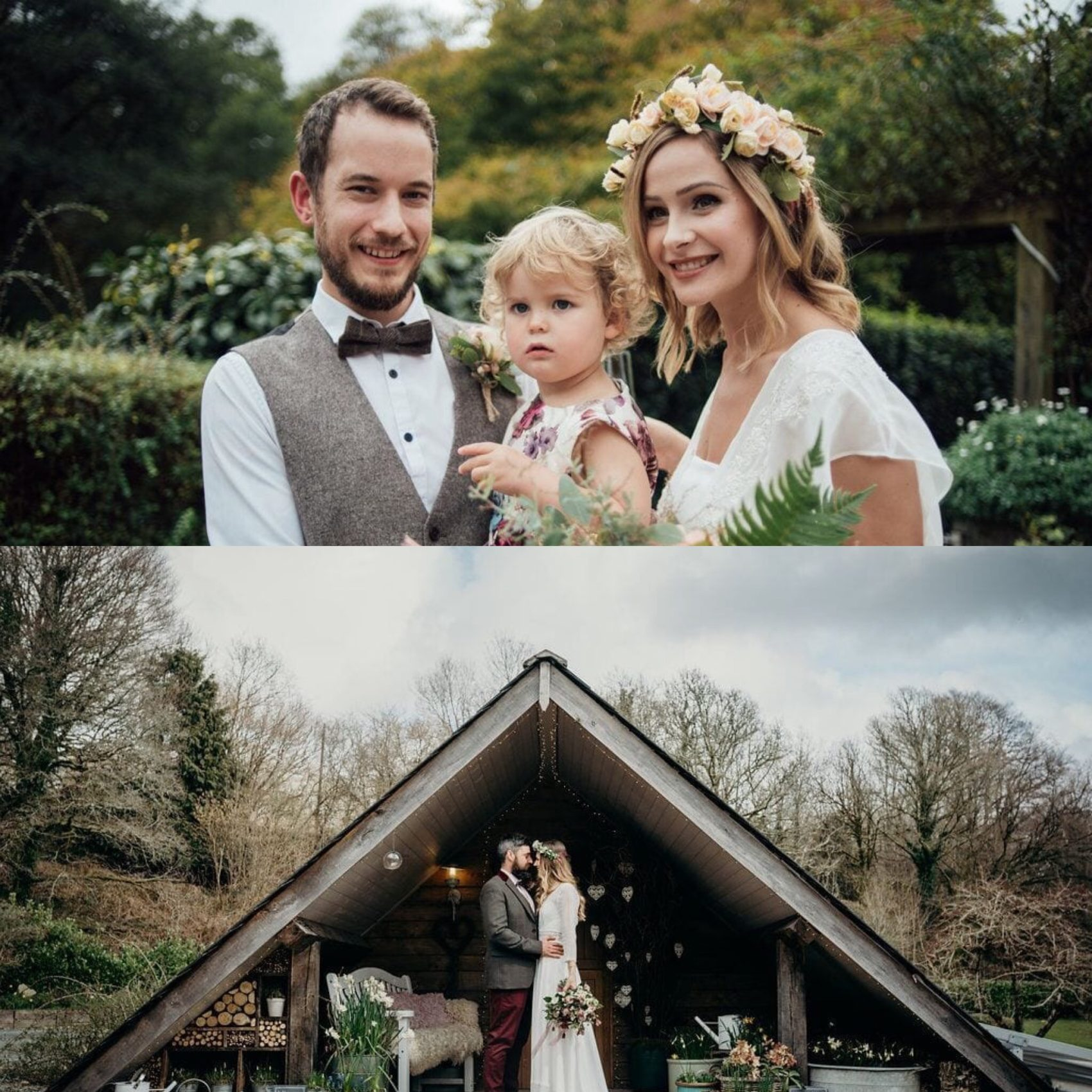 Elopement, ever after, lower grenofen, apex space, flowers, family, children, wedding, woodland, rustic, boho