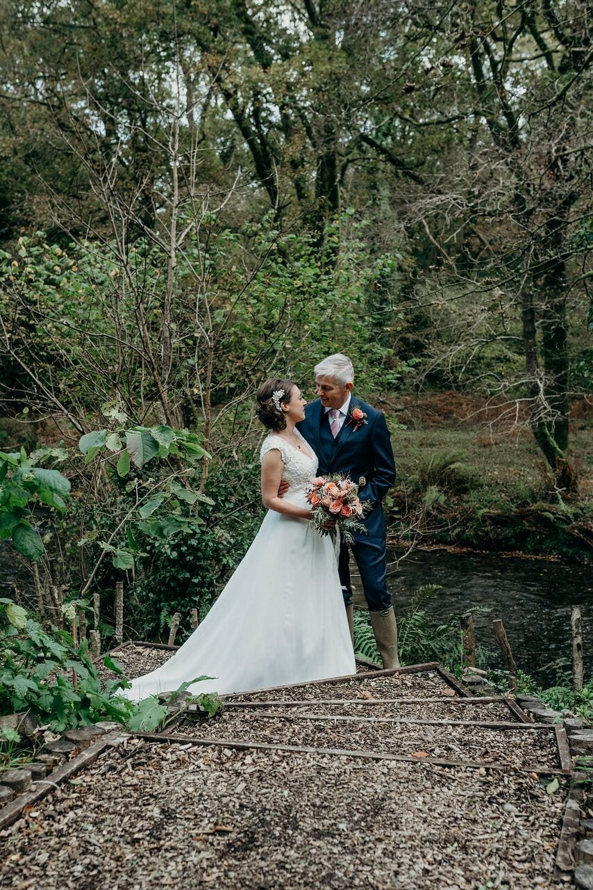 elopement clare and simon bride and groom on glade walk