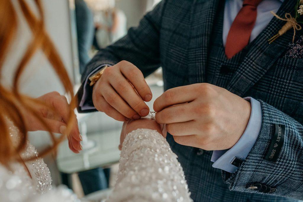 bride & groom detail shot