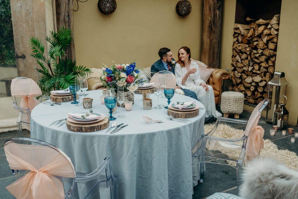 elopement wedding breakfast table