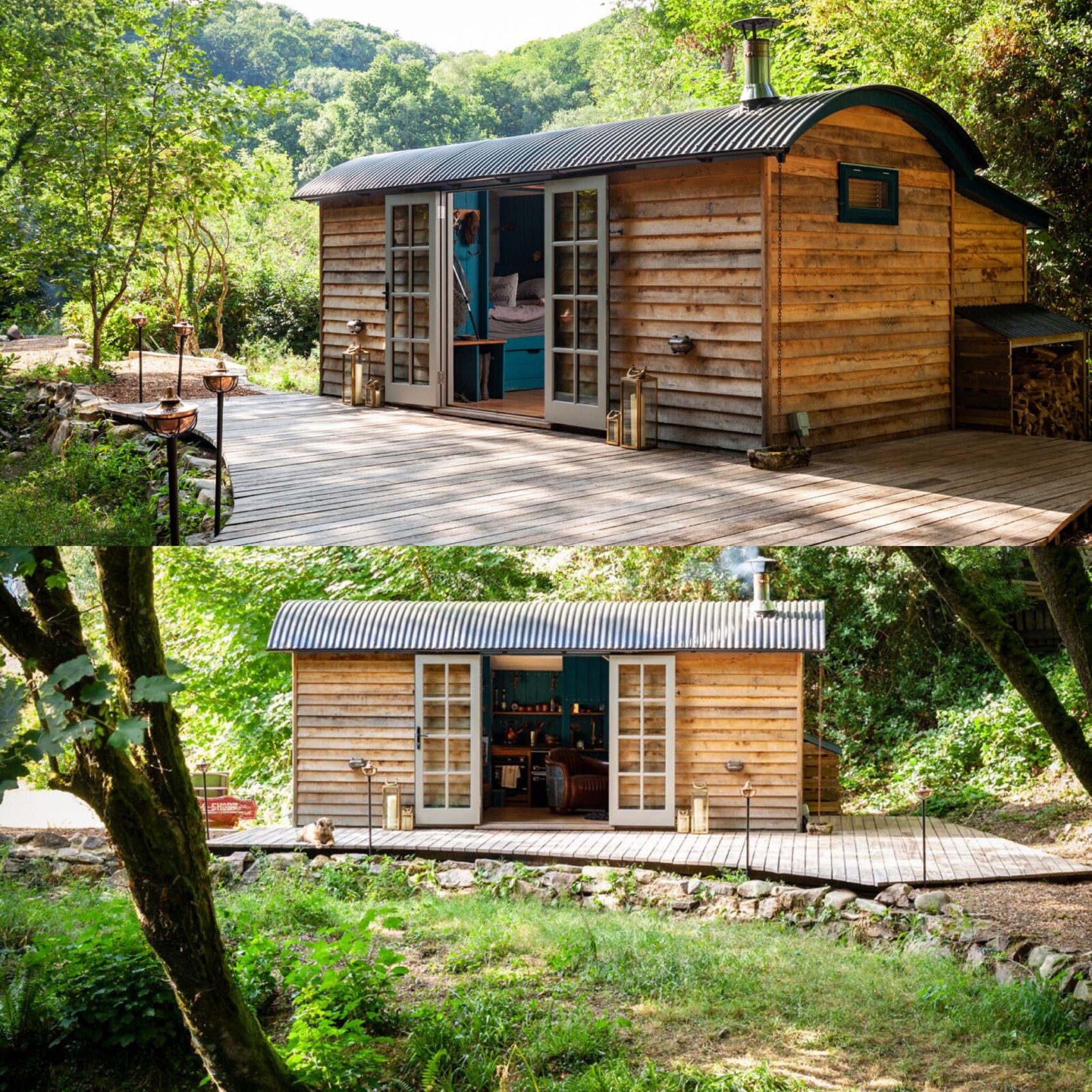 shepherds hut, river walkham, river banks, bridge, cosy, wood burner, woodland lodge, ever after, accommodation, 2019