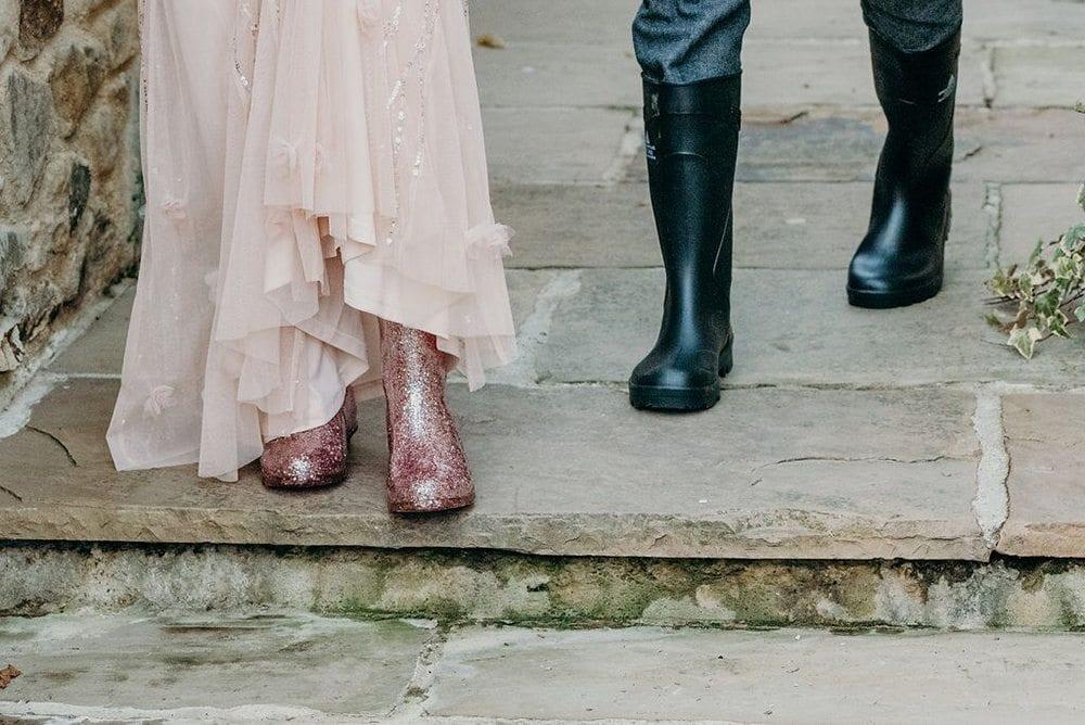 millennial pink blog post pink wellie boots
