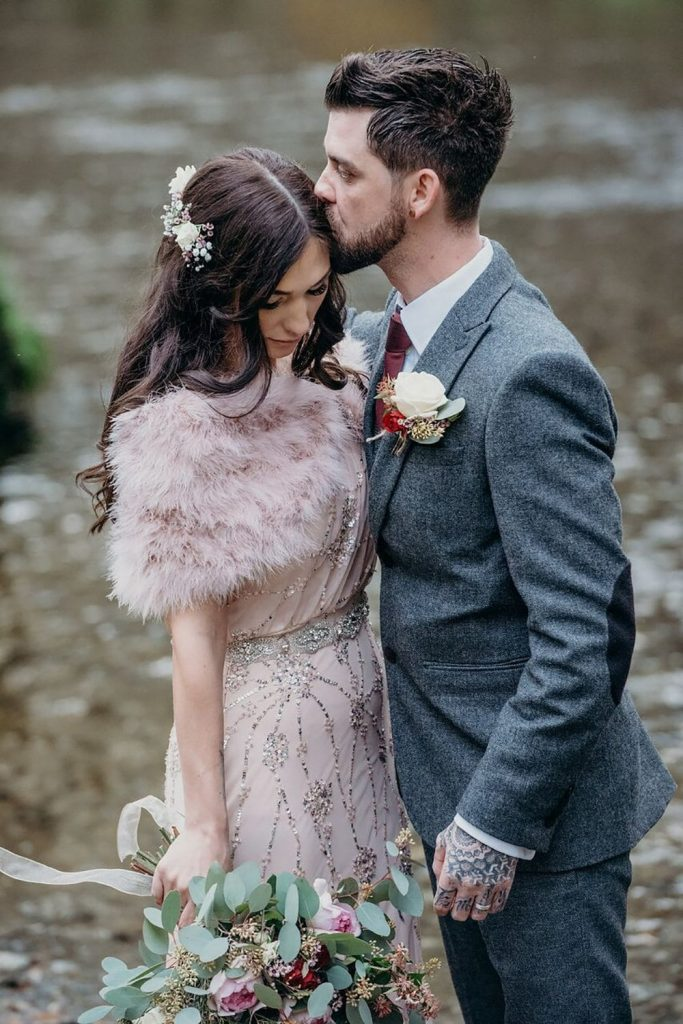 millennial pink blog post bride and groom