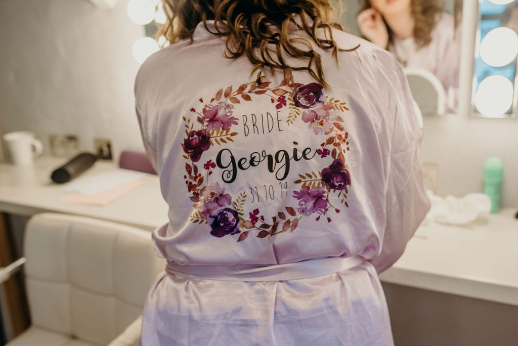 brides personalized robe