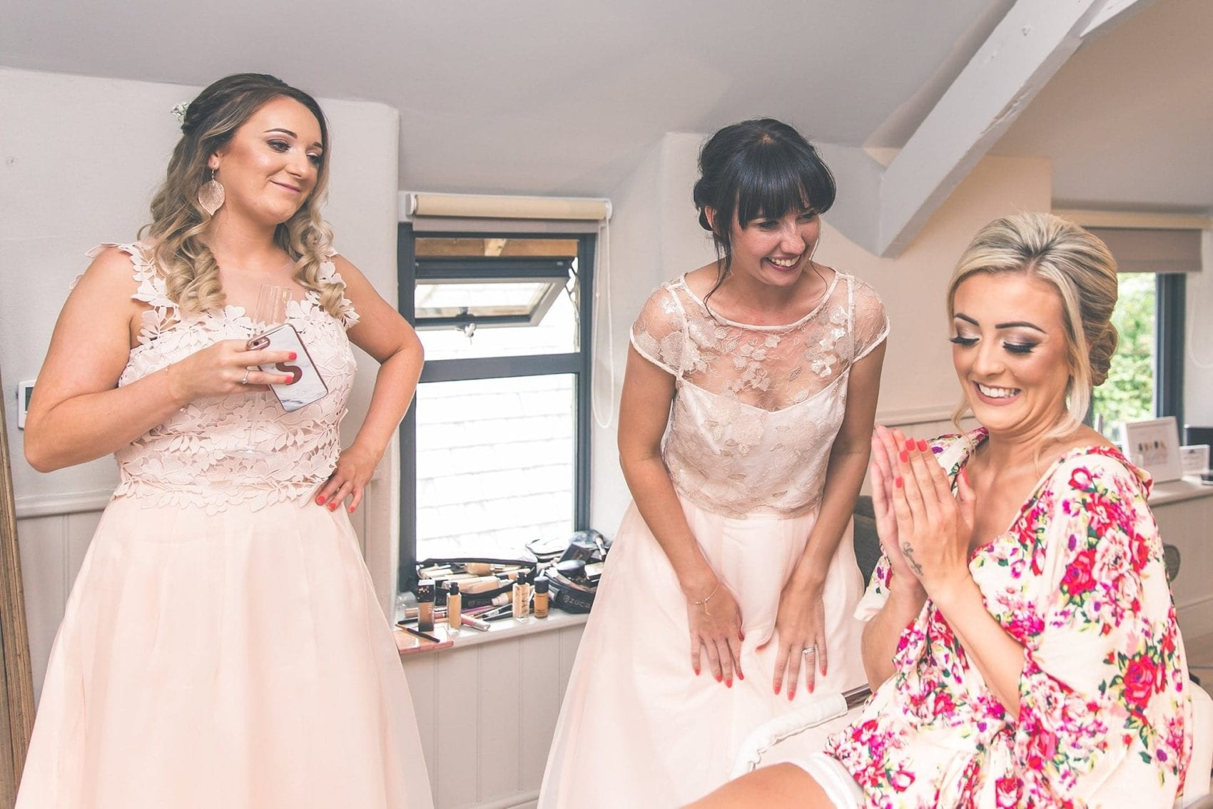 bride, bridesmaids, getting ready, dresses, hair & Makeup, wedding dress