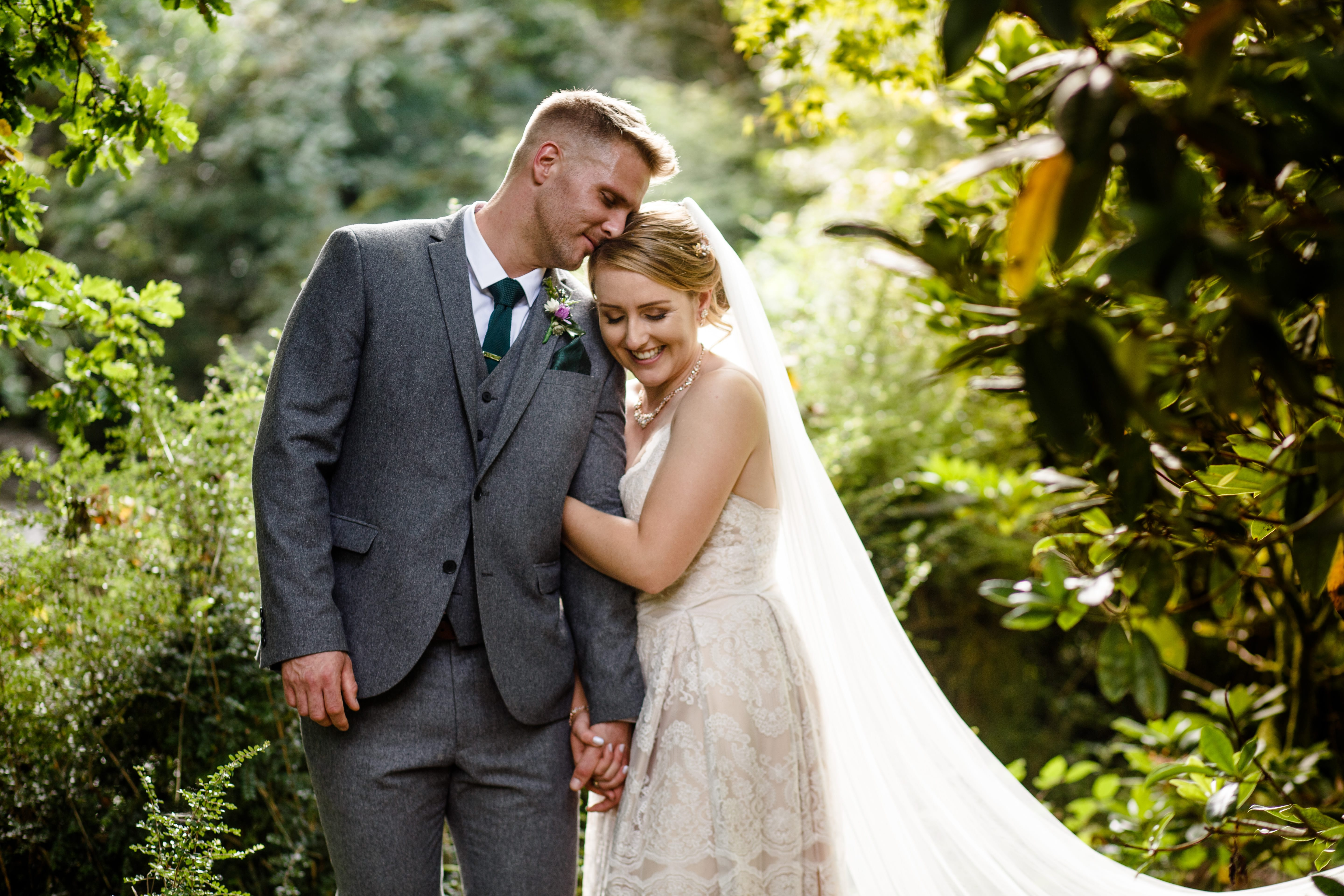 bride & groom outdoor wedding photography