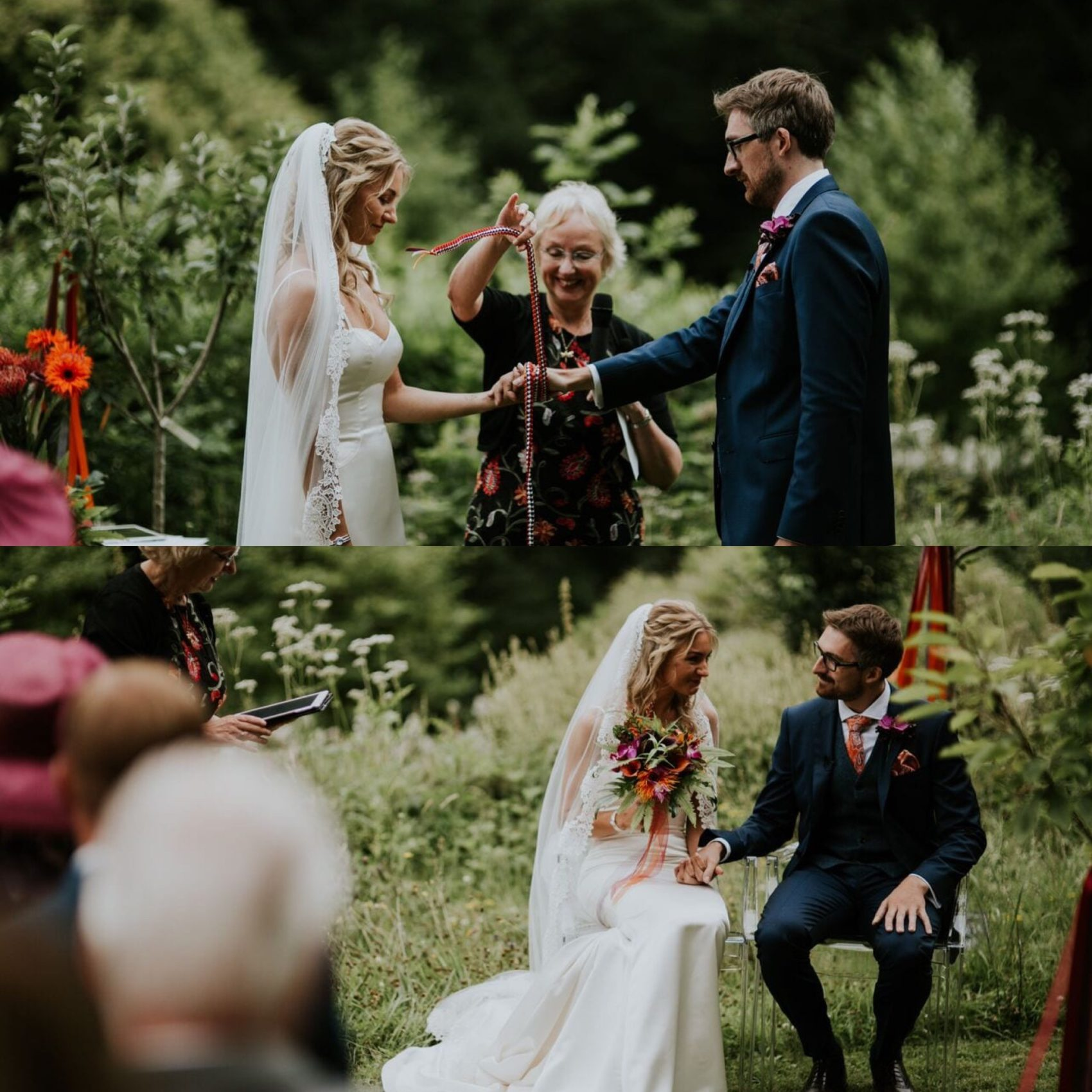 Humanist ceremony, orchard, summer, woodland, ever after