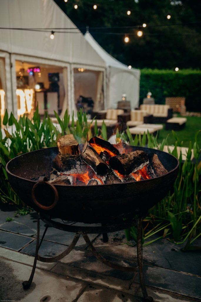 outdoor wedding fire pit