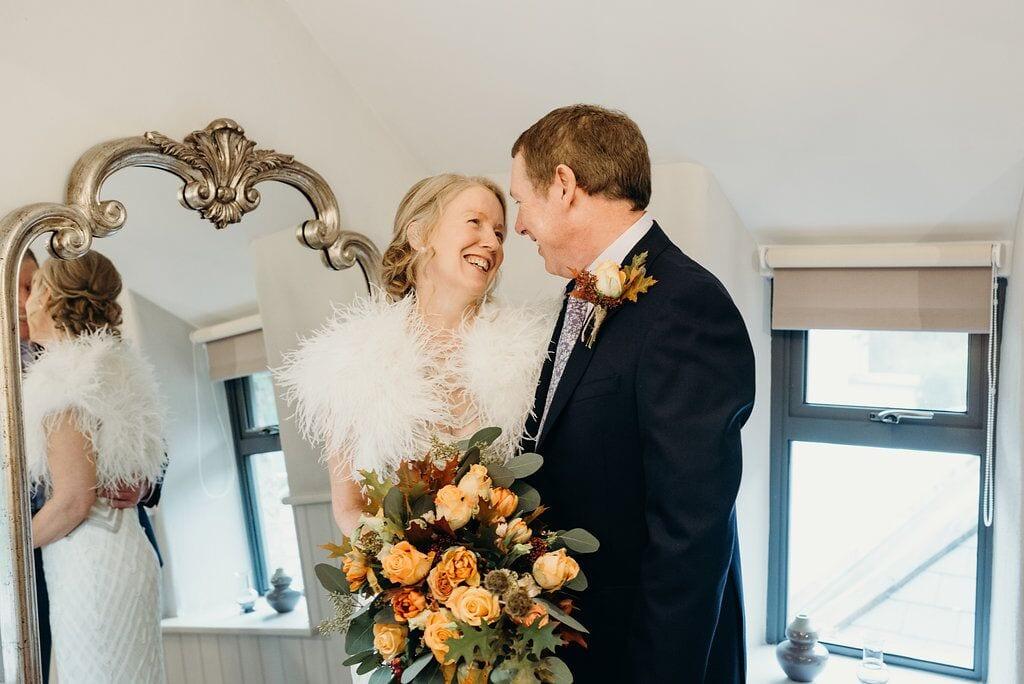 elopement karen and keith bride and groom