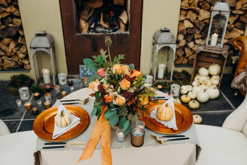 styling it right november elopement recap wedding breakfast table