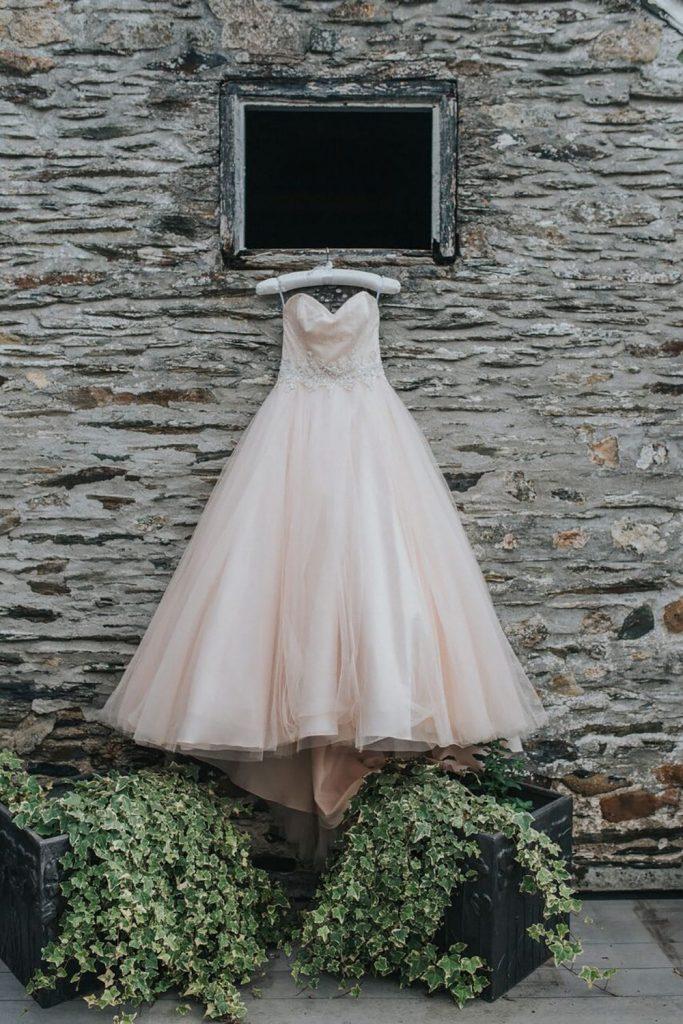 millennial pink blog post wedding dress