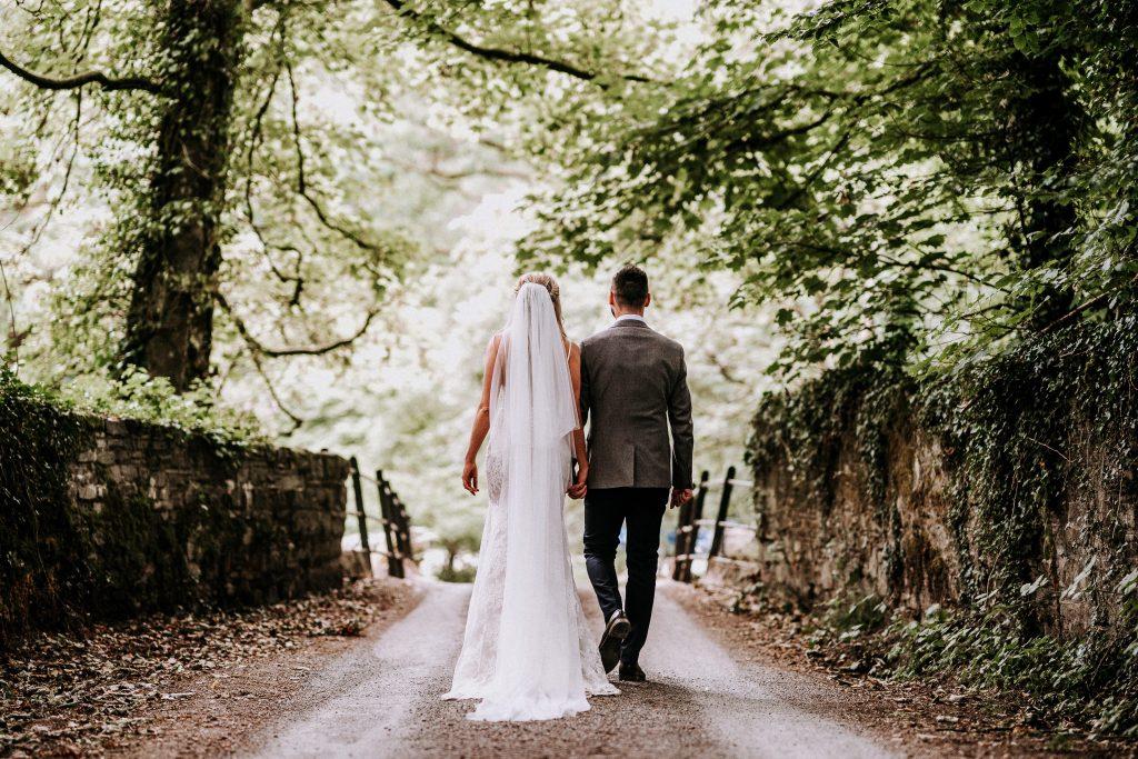 bride & groom outdoor wedding photography