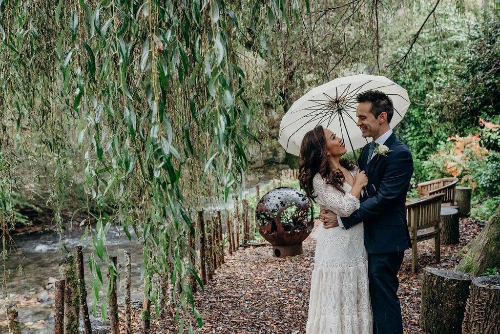 elopement michelle and jonny bride and groom on riverwalk