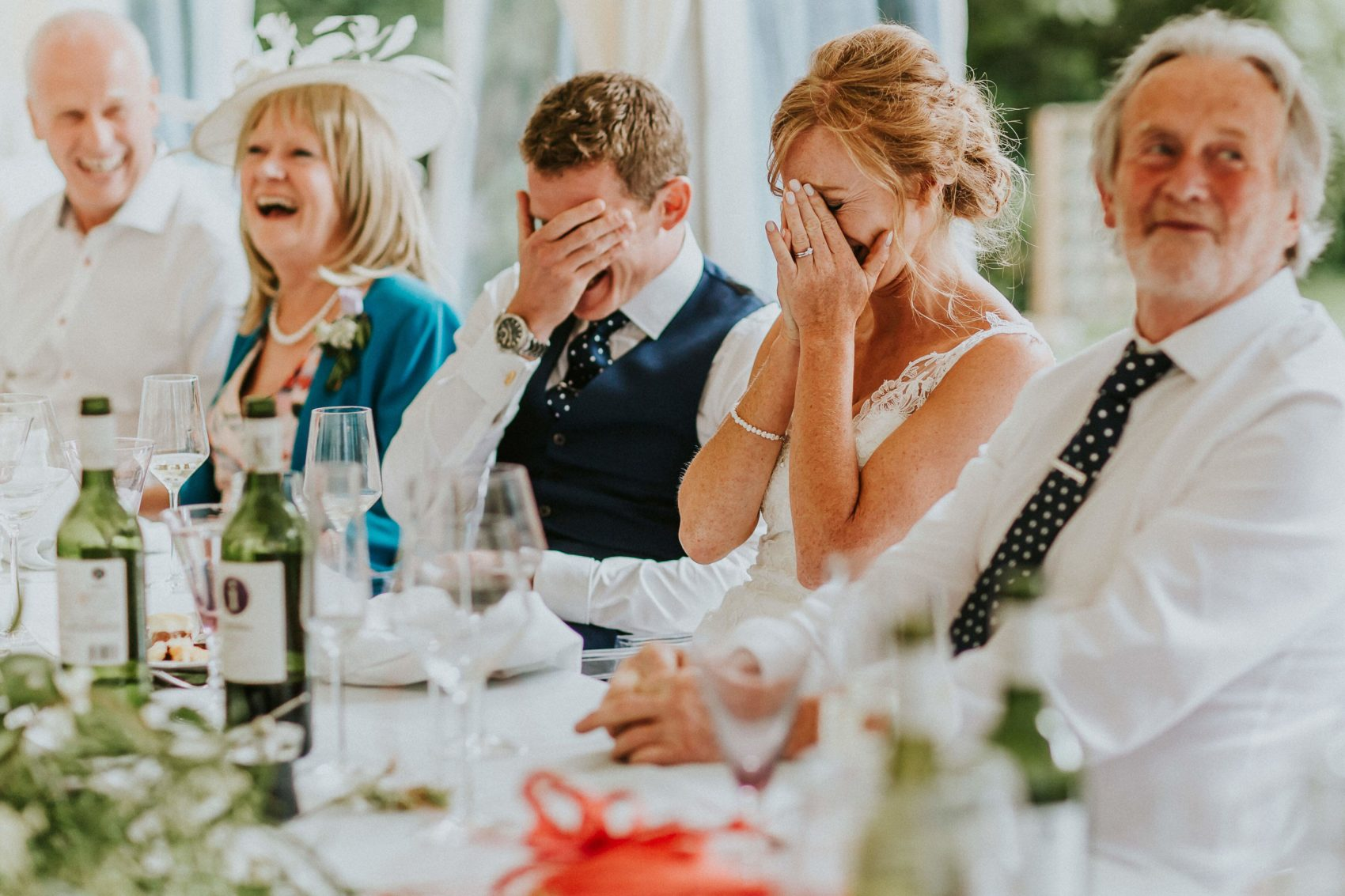 face palm, running out of alcohol, oh no, top table, speeches,