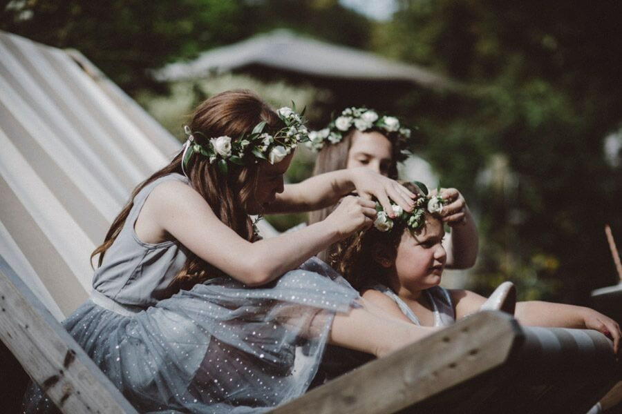 bridal hair ever after blog post flower crown bridesmaids