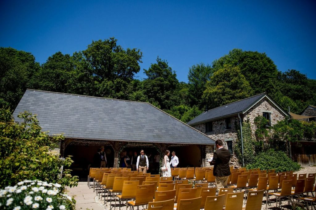 ceremony options ever after blog post outside wedding barn