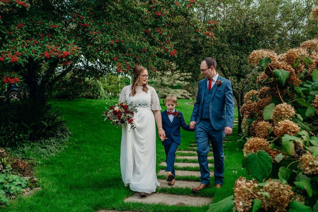 couple & son wedding photography