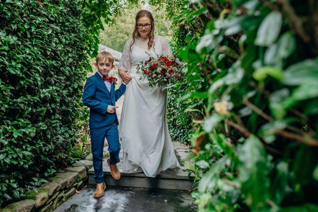 bride & son walking aisle