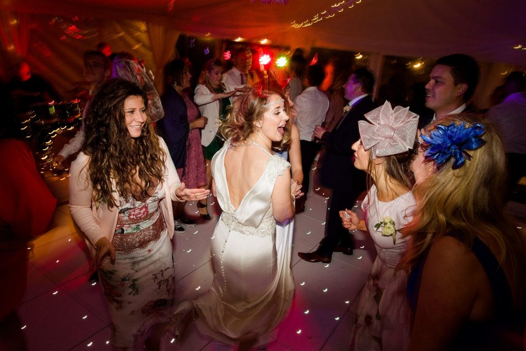 dartmoor wedding marquee white led dance floor with dancers
