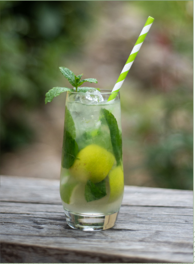 Devon inspired cocktail, mojito, fresh lime, fresh mint, drinks, wedding, signature, ever after, grenofen, refreshing