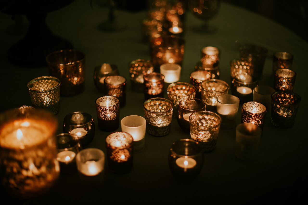 Candle light wedding decor Photographer: Lucy Turnbull