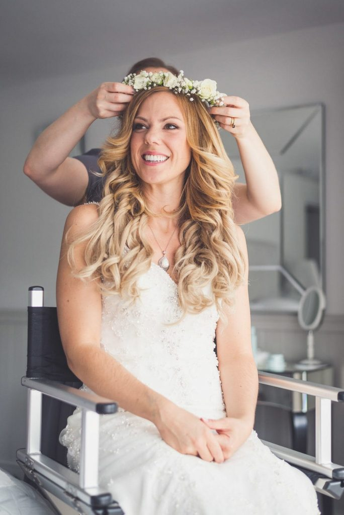 bridal hair ever after blog post flower crown