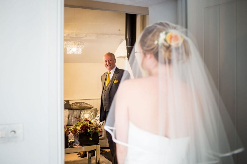 the dress ever after blog post father seeing bride for first time
