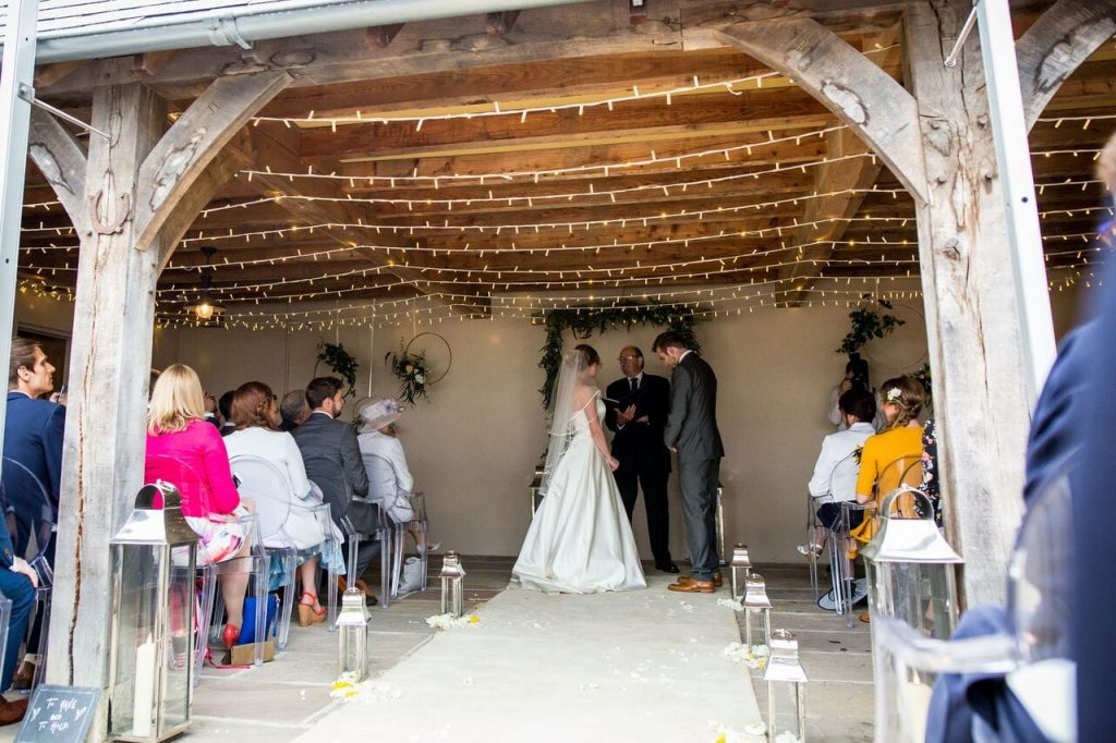 ceremony options ever after blog post inside wedding barn