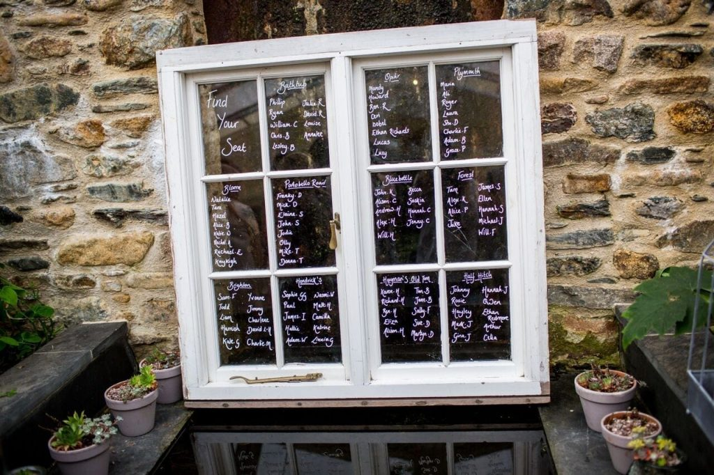 table plan at ever after window