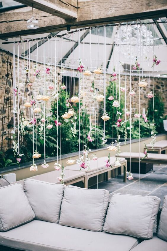 flower curtain, florist, deb, dartmoor flowers, bohemian, boho, hippy, summer, spring, floral, beautiful