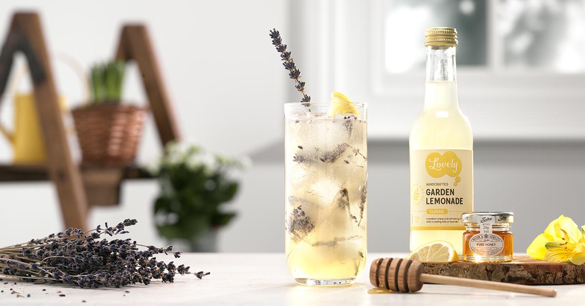bumblebee cocktail, shaken, lavender, lemonade, gin, dodd's gin, sweet, honey,