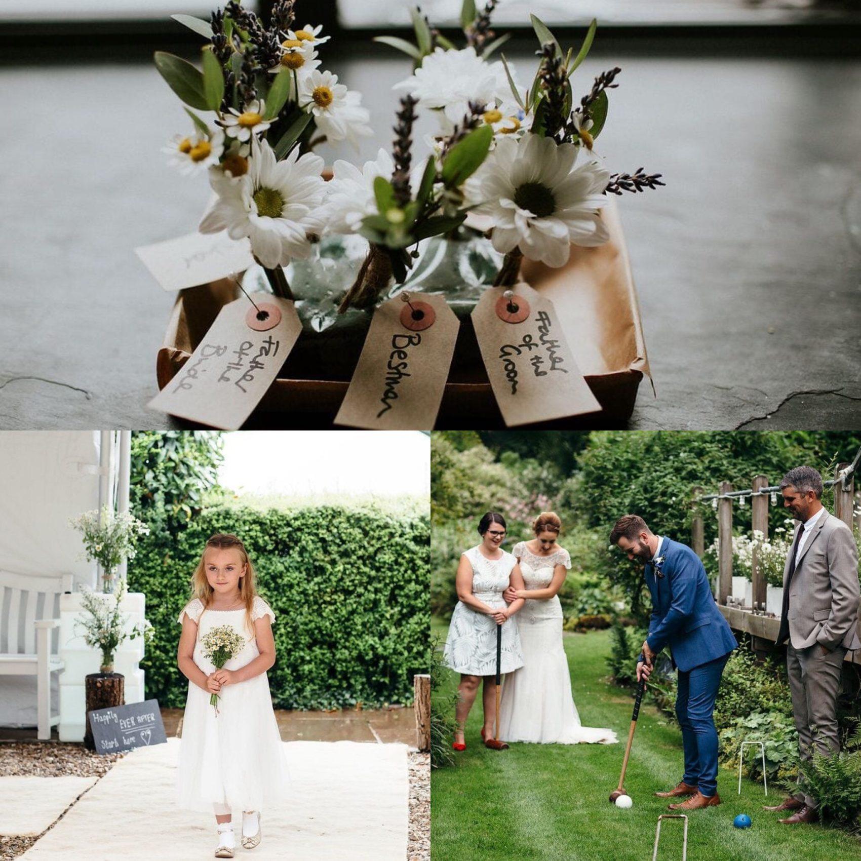 Flowers, details, children, kids, games, lawn games, wedding, entertainments, flower girl, croquet, guests, friends, ever after, summer, lower grenofen, party