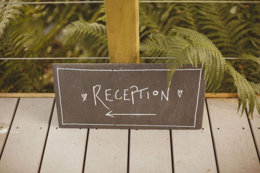 drinks reception decor blog post ever after's slate signs