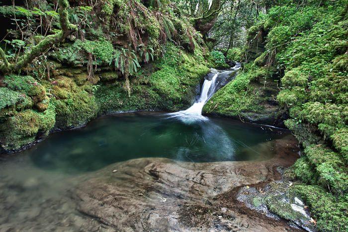 Lydford gorge, waterfall, 30m, Devon, dartmoor, local