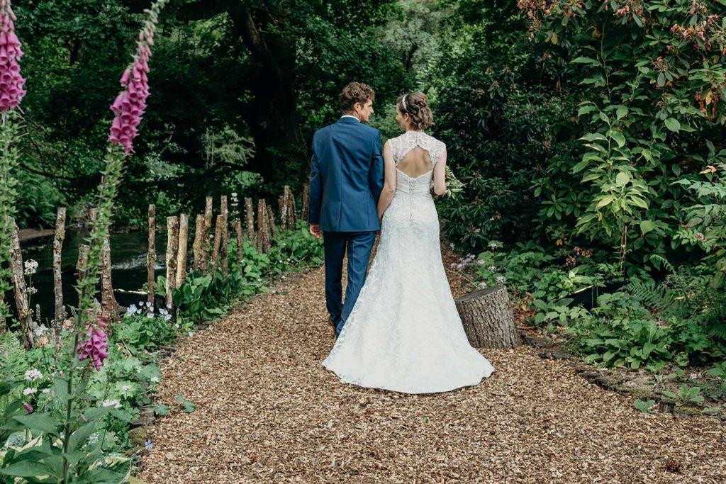 bride groom riverwalk devon summer