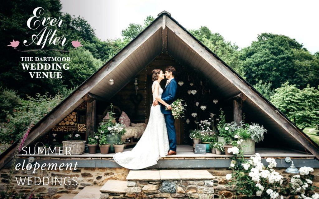 summer elopement brochure front cover
